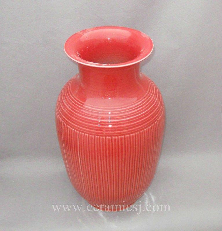 WRYMA17 18 inch Red melon edge decorative Ceramic flower Vase