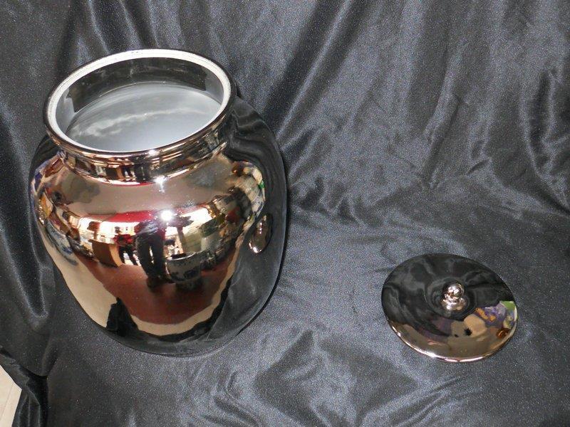 WRYIR70 Modern silver porcelain jar