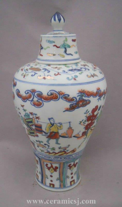 Jingdezhen archaize gold drawing Porcelain jar WRYPJ12
