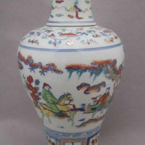 Jingdezhen archaize gold drawing Porcelain jar WRYPJ12