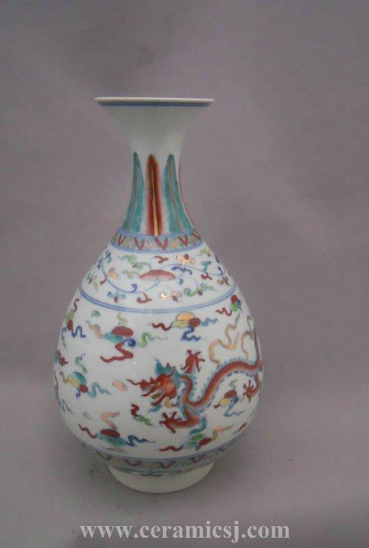 Chinese ancient dragon decoration Porcelain Vase WRYPJ14