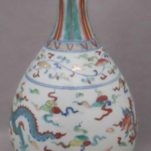 Chinese ancient dragon decoration Porcelain Vase WRYPJ14