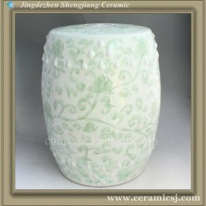 celadon ceramic outdoor garden stool WRYNQ13