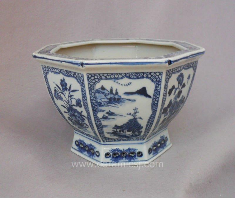 Qing dynasty antique ceramic flower pot WRYSZ01
