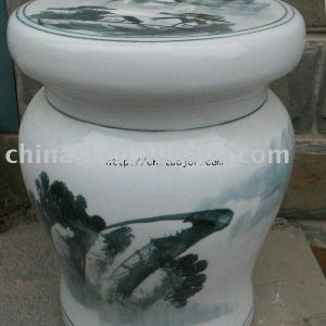 WRYLY01 Chinese landscape Ceramic Garden Stool