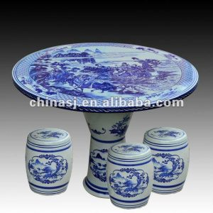 antique blue and white ceramic garden stool table set RYAY256