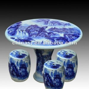 antique blue and white ceramic garden stool table set RYAY259