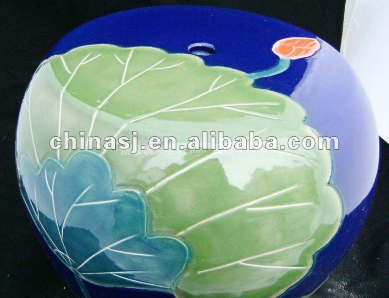 chinese ceramic outdoor garden stool WRYAZ228