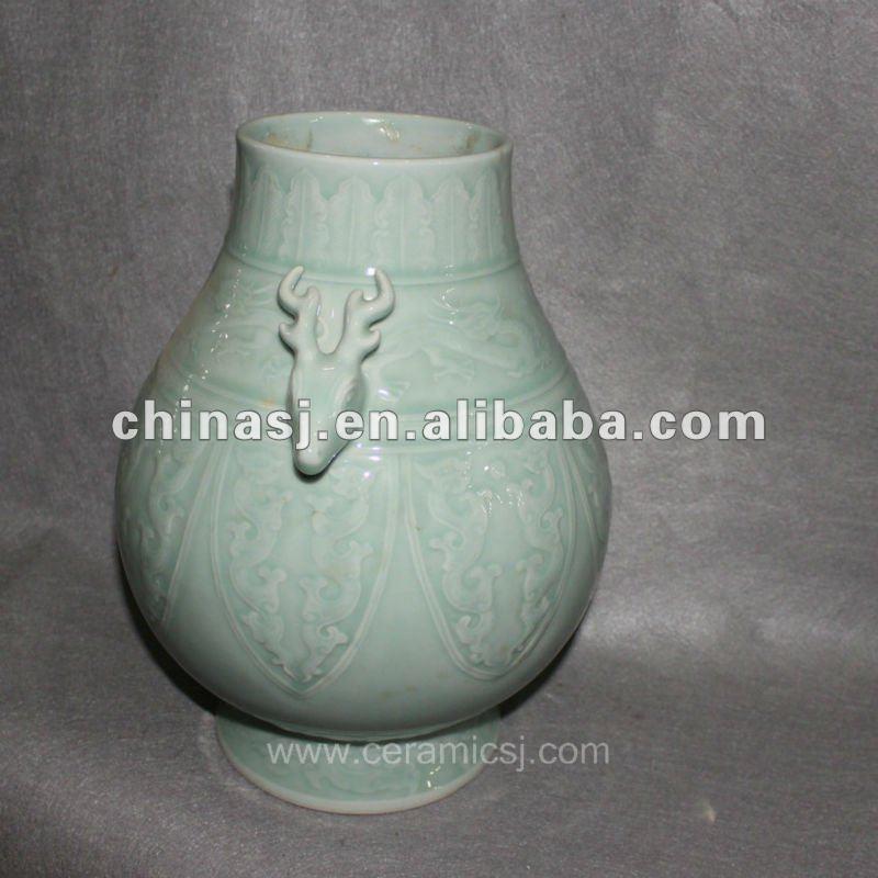 RYVE02 beautiful hand made celadon ceramic jar