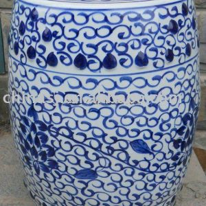 WRYLY03 blue and white floral Ceramic Garden Stool