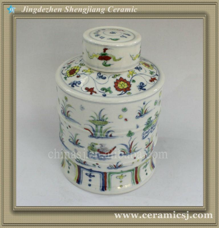 RYWR02 wholesale hand painted Ming reproduction candy jars