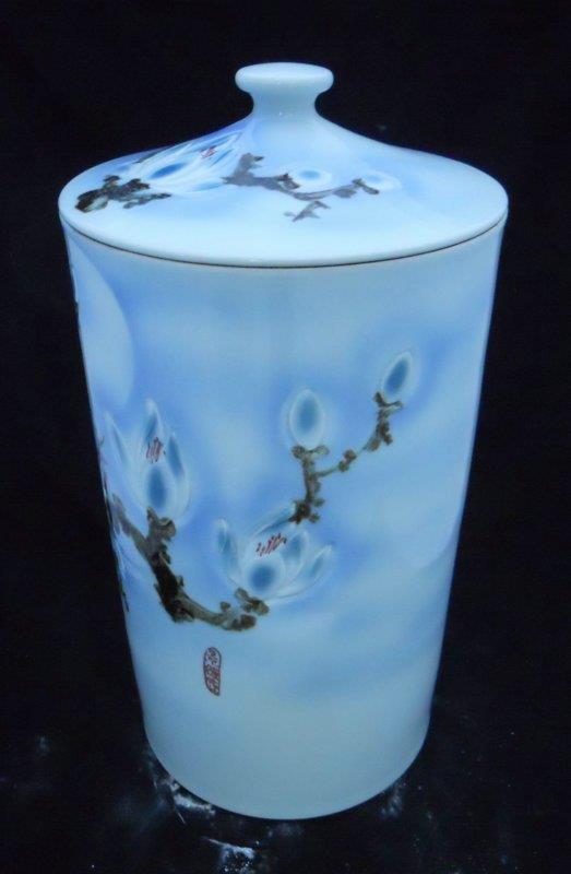 WRYKB23 h60*d31cm rice storage porcelain jar with lid