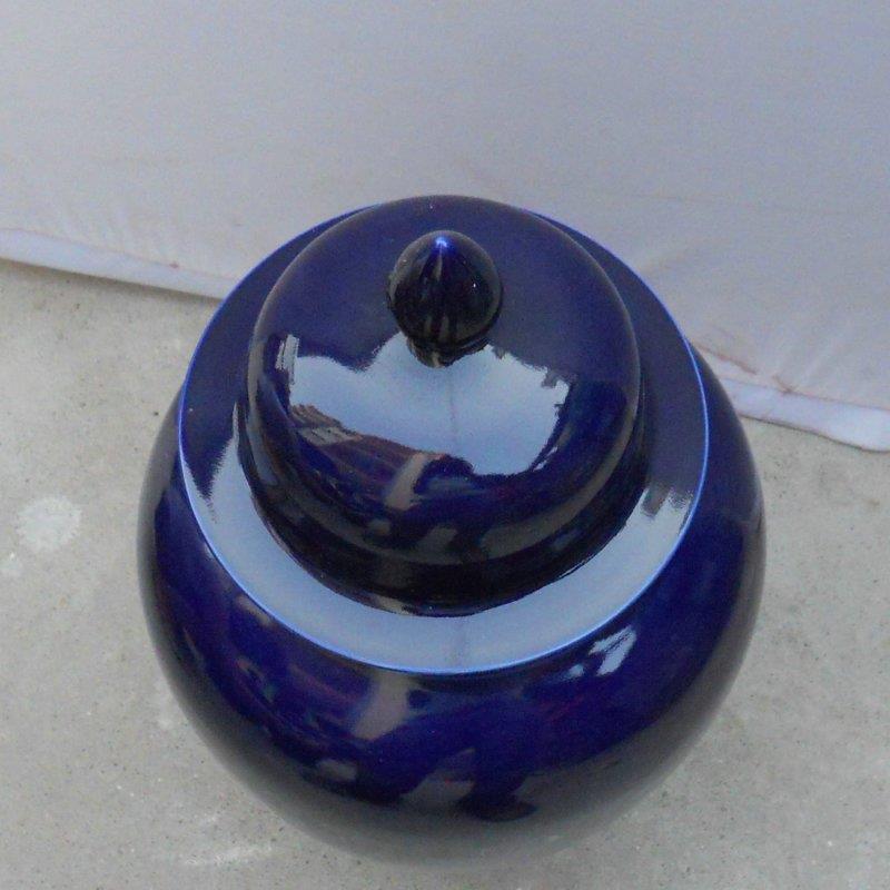 WRYKB17 20.5 inch dark blue porcelain Jar