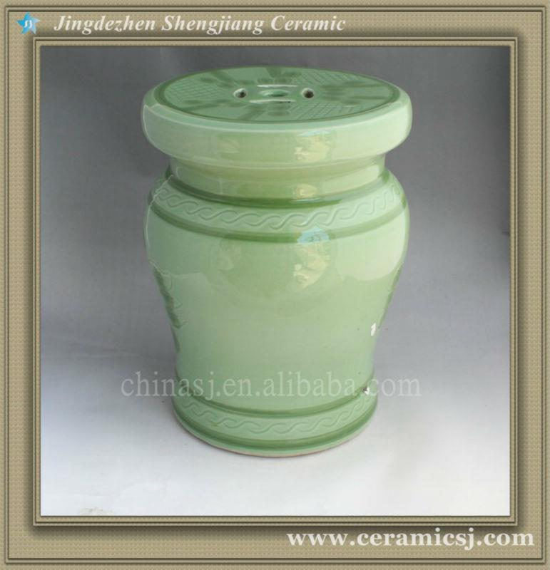 green ceramic garden stool WRYAZ223