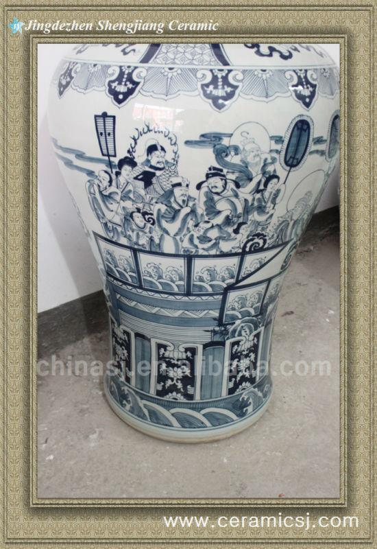 RYWY06 47 inch tall Hand Made Chinese Fairy Temple Jar