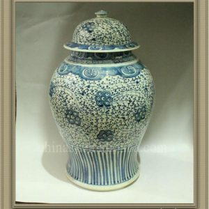 RYWJ03 Blue and White porcelain temple jar