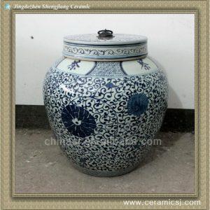 RYWY04 22inch hand painted ceramic storage jar