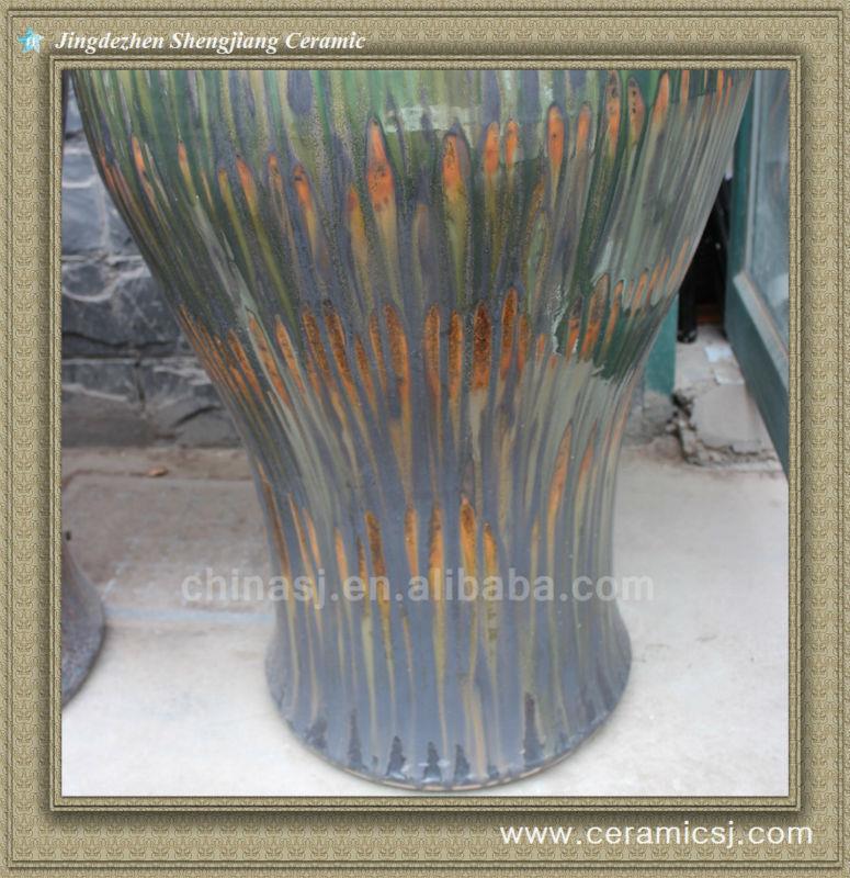 RYWO09 brown large porcelain ceramci jar