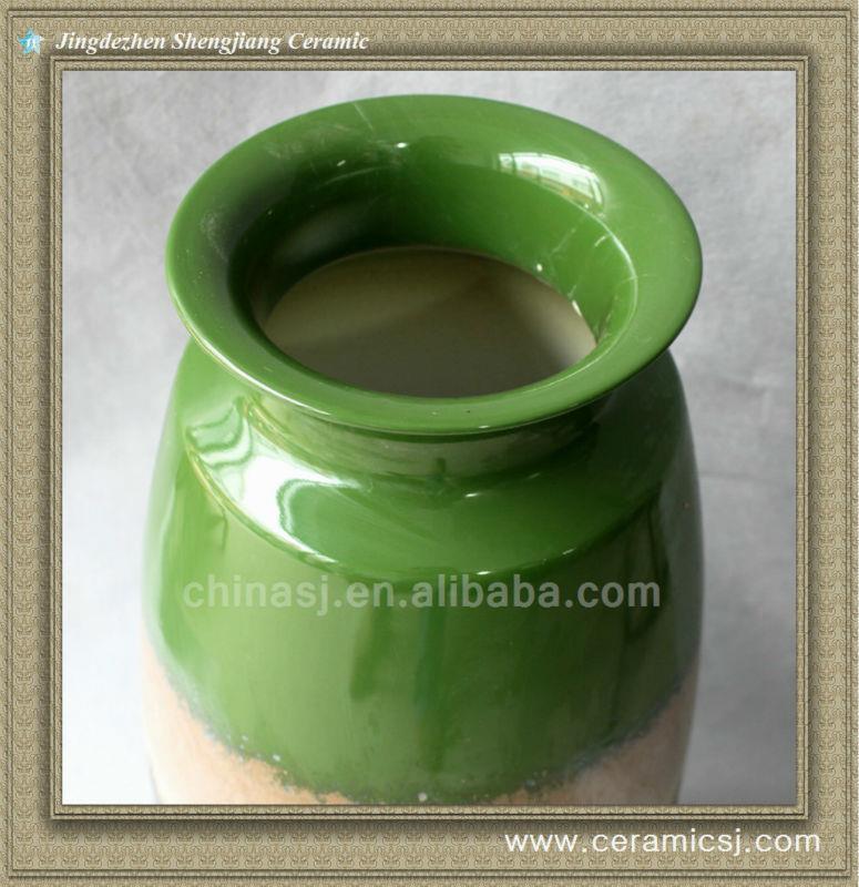 RYWO15 green porcelain jar with lid