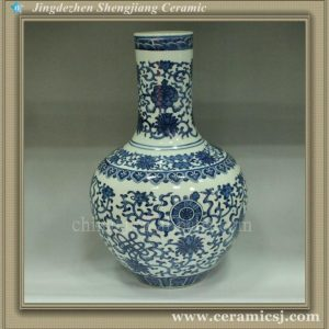 RYUJ04 Blue and White Ceramic Vase