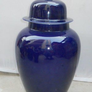 WRYKB17 20.5 inch dark blue porcelain Jar