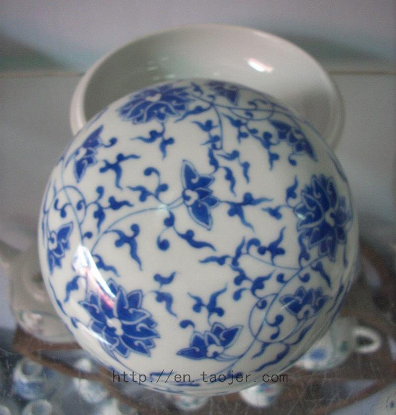 Chinese Blue and White Porcelain Inkpad Box RYAS46