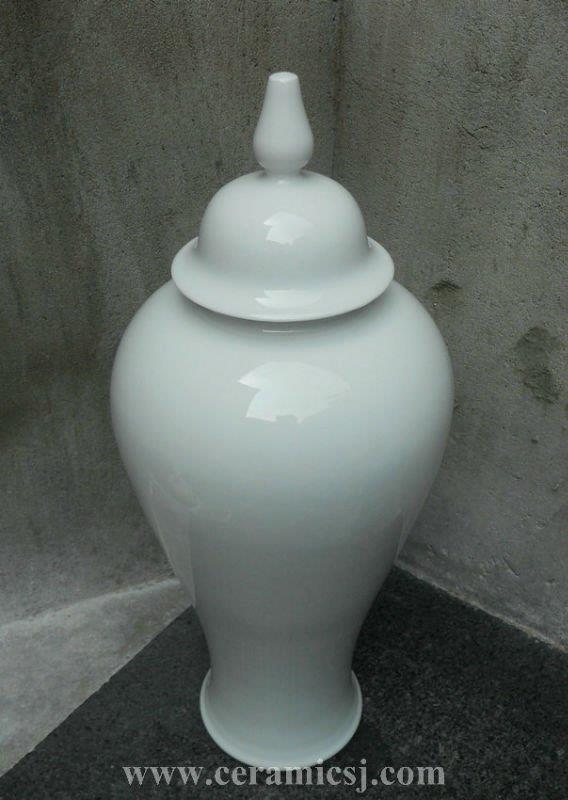 WRYKB70 H59cm white ceramic jar