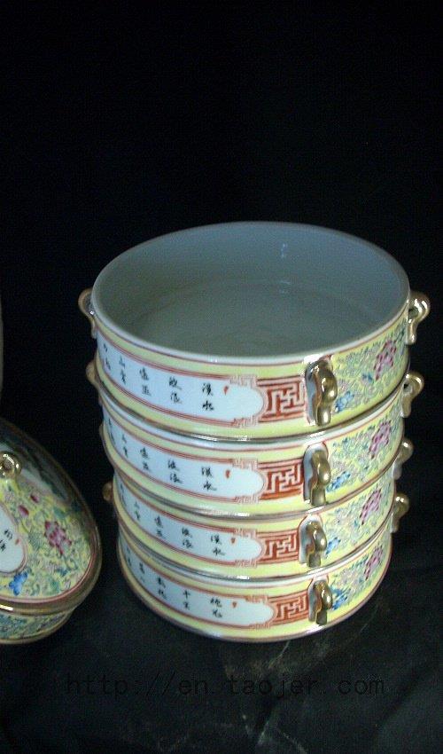 WRYFH04 Beautiful ceramic snack box