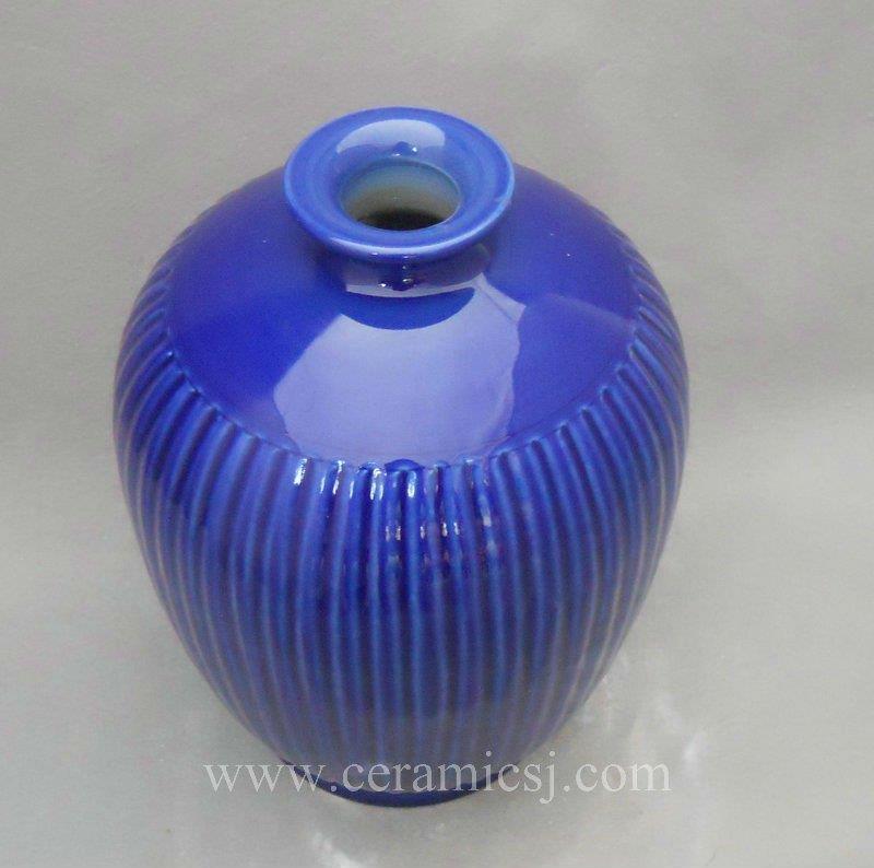 WRYMA24 Blue melon edge Ceramic Vase