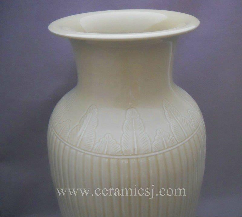 WRYMA19 22inch Melon edge Ceramic flower Vase