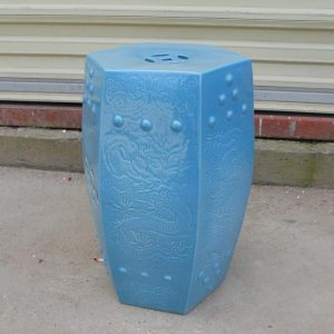 WRYCN51 Blue Ceramic outdoor Garden Stool