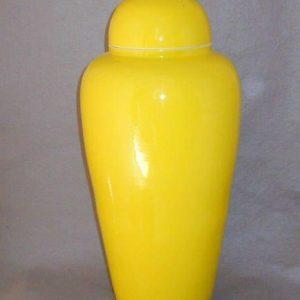 Slim yellow ceramic ginger jar WRYKB81