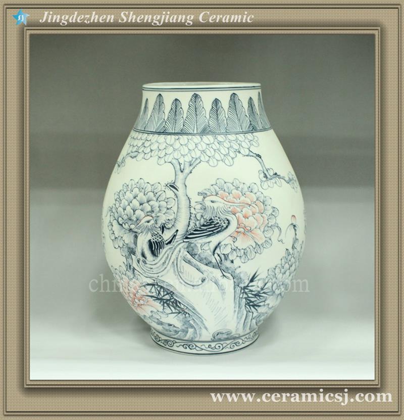 RYUJ04 Blue and White Ceramic Vase