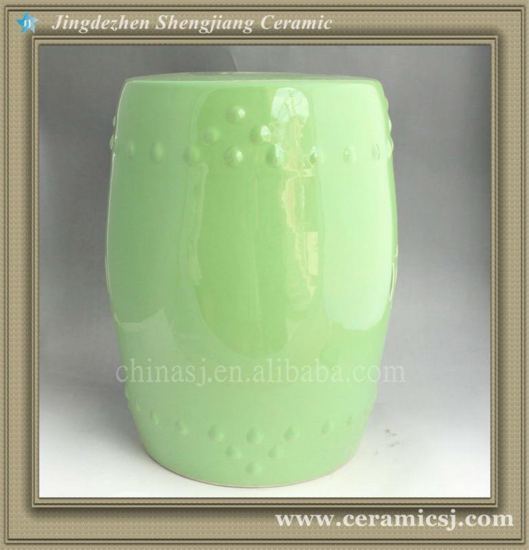 WRYIR80 Pale Green outdoor Ceramic Garden Stool