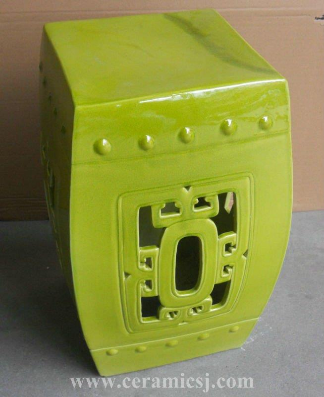 "RYDB53 17"" Square ceramic Garden Stool"