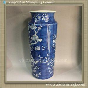 RYWG05 Hand paint Plum Bloosom Hand Blown Vases