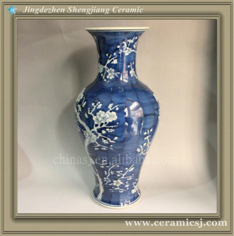 RYWG02 B & W Hand paint Plum Bloosom Flower Vases Wholesale