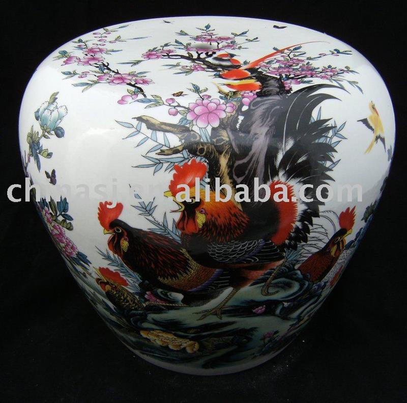 Apple shape Ceramic Garden Stool WRYAZ200