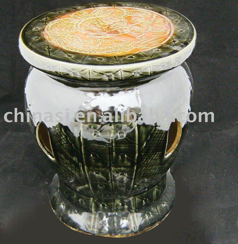 Brown Chinese Porcelain Garden Stool WRYAZ211