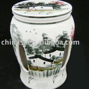 Ceramic Garden Stool wucai color WRYAZ212
