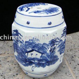 Ceramic outdoor stool WRYAZ229