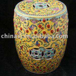 WRYAZ08 Famille rose Porcelain Garden Stool