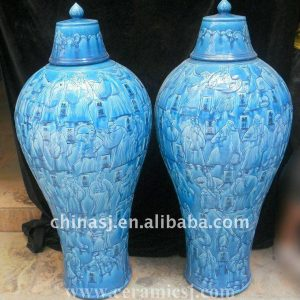WRYPJ01 Hand made antique blue Ginger Jar