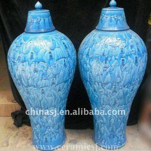 WRYPJ01 Hand made antique blue Ginger Jar