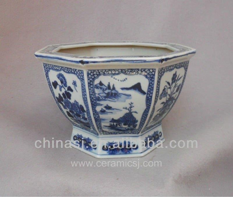 Rysz01 Old Qing Dynasty Antique Ceramic Flower Pot