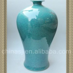 RYDB39 19.5inch Ceramic Solid Color Meiping Vases