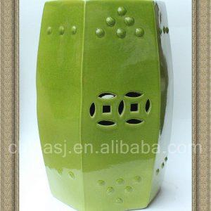 RYDB47 19inch Ceramic Plain Garden Stool