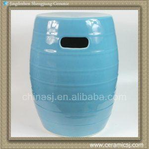 RYKB107 17inch Light Blue Ceramic Garden Stool