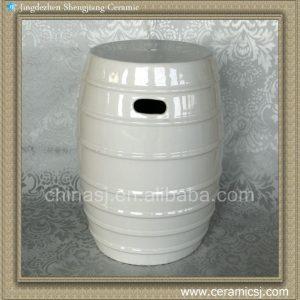 RYKB109 17inch White Ceramic Garden Stool