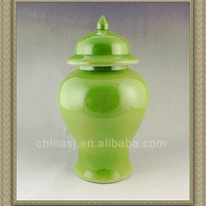 RYNQ44 14inch Ceramic Green Temple Jar